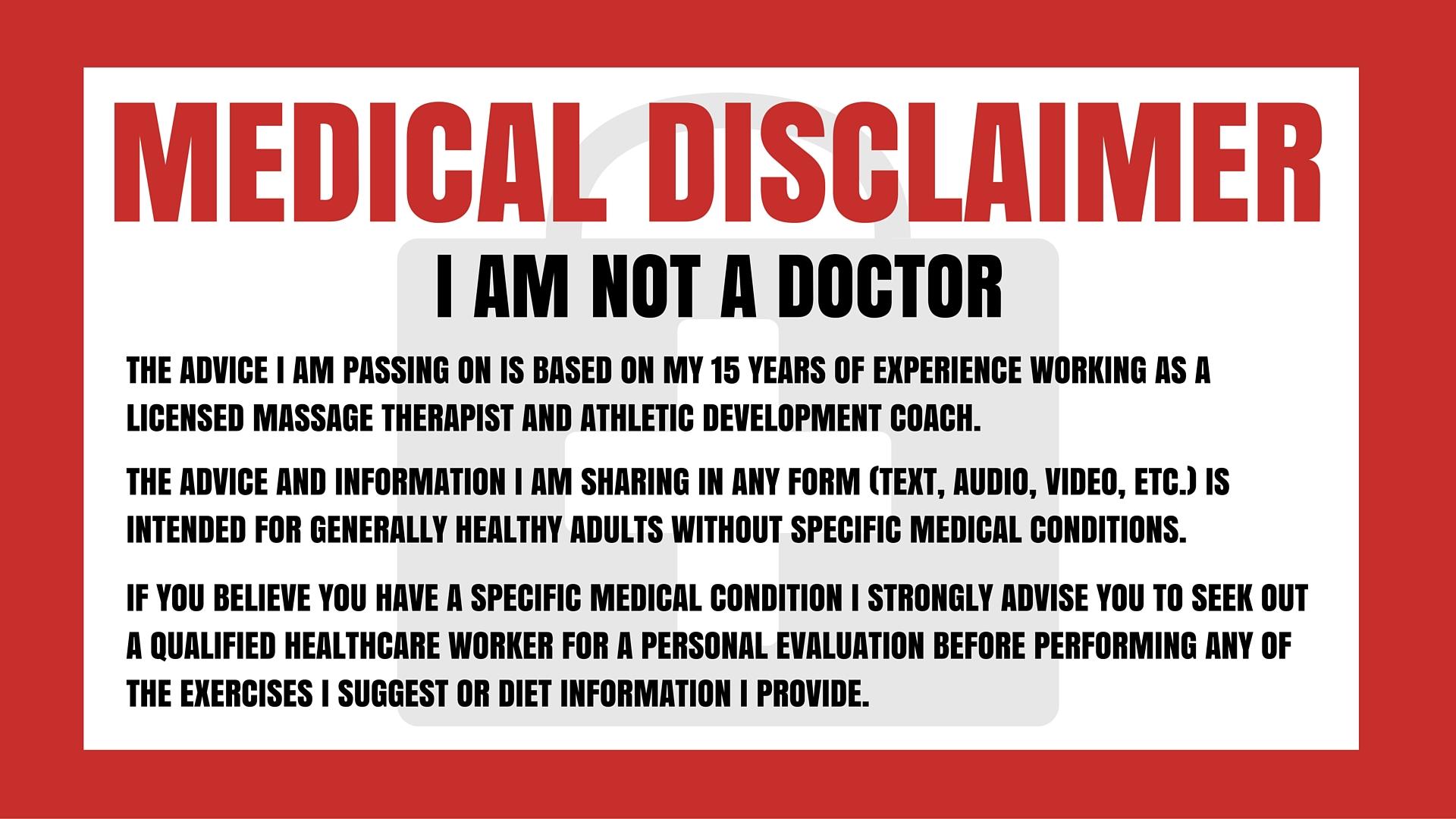 Medical Disclaimer - 1